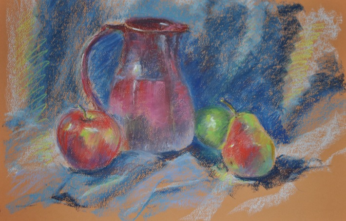 Ceramic Pitcher with Fruit