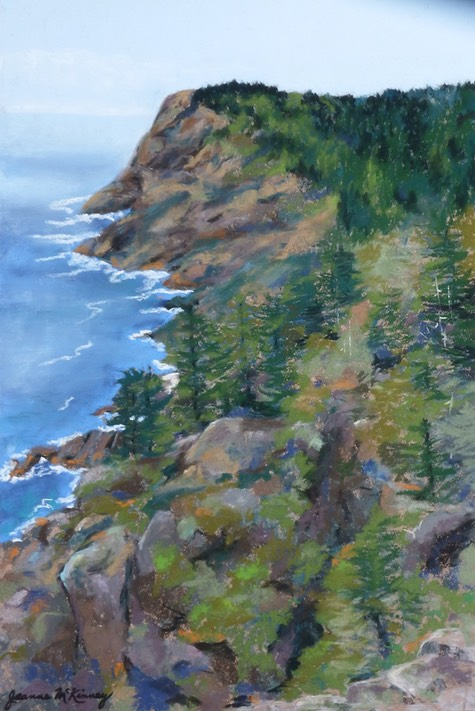 Vista of White Head, Monhegan Island, Maine